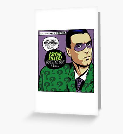 Post-Punk Psycho Greeting Card