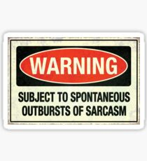 Subject to sarcasm Sticker