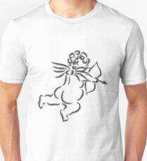 Cupid with Bow and Arrow Ink Brush Illustration T-Shirt