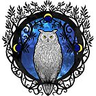 Art Nouveau Owl by Soulhuntress
