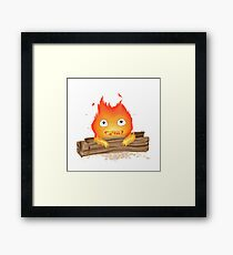 Comfy Calcifer Framed Print