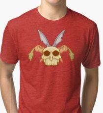 Old Rabbit Skull Tri-blend T-Shirt