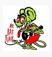Rat Fink, Dirty Rat Photographic Print