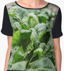 Spinach harvest Chiffon Top