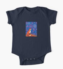 Star Gazing Fox One Piece - Short Sleeve