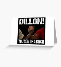 Schwarzenegger Dillon Predator Arm Wrestle  Greeting Card