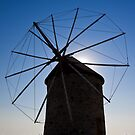 Windmills of Patmos by Konstantinos Arvanitopoulos