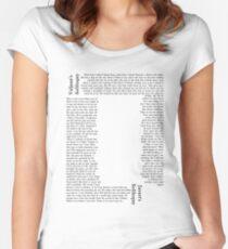Camiseta entallada de cuello ancho Soliloquios contrastantes
