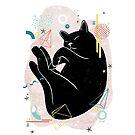 Sleeping Kitten illustration by JannekeMeekes