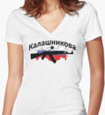 Kalashnikov Women's Fitted V-Neck T-Shirt