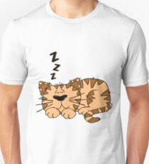 Animal Cartoon Cat Sleeping Unisex T-Shirt