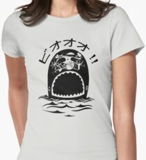 Laboon One Piece - The whale on the red line Women's Fitted T-Shirt
