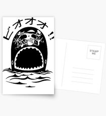 Laboon One Piece - The whale on the red line Postcards