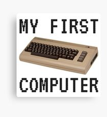 My First Computer - Commodore 64 Canvas Print