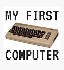 My First Computer - Commodore 64 Photographic Print