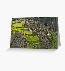 Machu Picchu Archeological site in Peru (II) Greeting Card