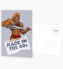 He-Man Made in the 80s Postcards