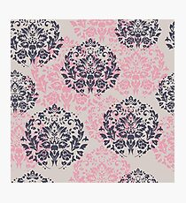 retro seamless floral pattern, vintage background Photographic Print