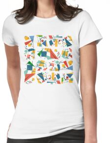 Colourful Constructivism Womens Fitted T-Shirt