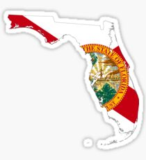 Flag Map of Florida  Sticker