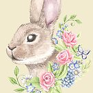 Floral Bunny by LCWaterworth