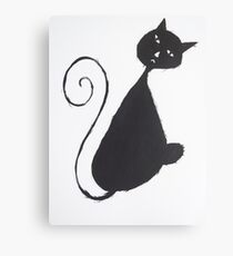 The Unhappy Cat Canvas Print