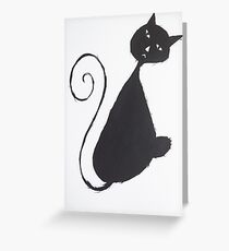The Unhappy Cat Greeting Card