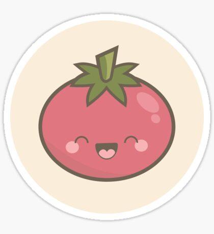 Happy Kawaii Tomato Sticker