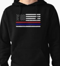 Thin Blue Red Line Flag T-Shirt