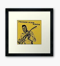 Freddie King in Pencil Framed Print