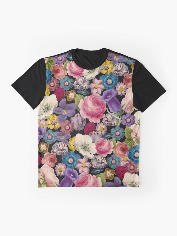 Alternative Ansicht von Retro Blumencollage Grafik T-Shirt