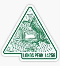 Longs Peak Topo Updated Sticker