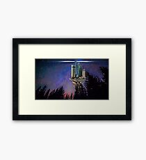 Shang High Space Station Framed Print