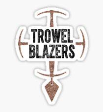 TrowelBlazers Logo WHITE Sticker