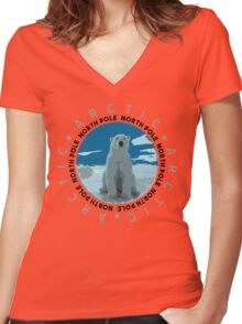 North Pole, The Arctic Women's Fitted V-Neck T-Shirt