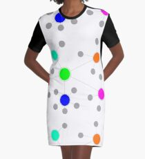 Netzwerk T-Shirt Kleid
