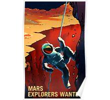 Nasa Mars Recruiting Poster - Explorers Wanted! Poster