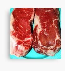 New York Steak Raw Canvas Print