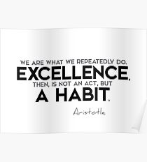 excellence is a habit (v2) - aristotle Poster