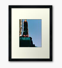 Upside Down California Sreamin' Framed Print