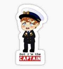captain crieff crying Sticker