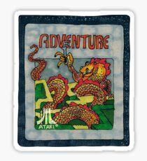 Retro Adventure Game Cartridge Sticker