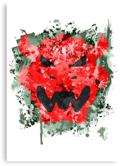 Bowser Emblem Splatter by Colossal