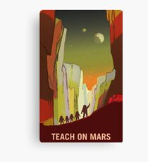Nasa Mars Recruitment Poster - Teach on Mars Canvas Print