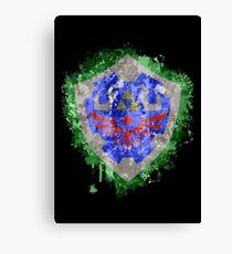 Hylian Shield Splatter Canvas Print