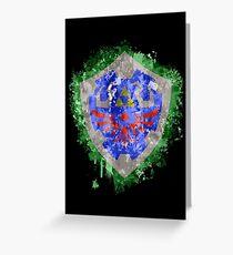 Hylian Shield Splatter Greeting Card