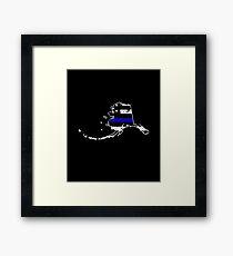 Alaska Thin Blue Line Police Framed Print