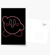 Minimalist Kirby With Face Postcards