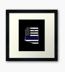 Arizona Thin Blue Line Police Framed Print