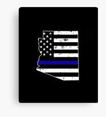 Arizona Thin Blue Line Police Canvas Print